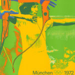 Original von den olympischen Spielen in München 1972 ist dieses Plakat vom Bogenschiessen