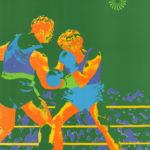 Olympiaplakat der Disziplin Boxen während der Olympiade 1972