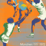 Originalplakat von der Olympiade 1972 von Otl Aicher zum Sport Handball