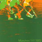 originalplakat aus Olympia 1972 in München der Sportart Hockey