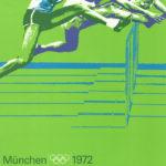Original aus 1972 ist das Plakat von Huerdenlaufen bei den olympischen Spielen in München
