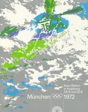 Echtes Kanu Plakat aus 1972 von der Olympiade 1972 in München
