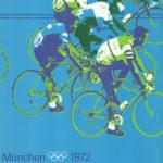 Olympisches offizielles Plakat Radfahren von Otl Aicher