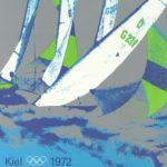 Original aus 1972 ist dieses olympische Plakat vom Segeln